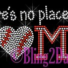 Baseball HEART - No Place Like Home Rhinestone Iron on Transfer Sport Mom