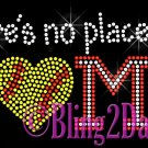 Softball HEART - No Place Like Home Rhinestone Iron on Transfer Sport Mom