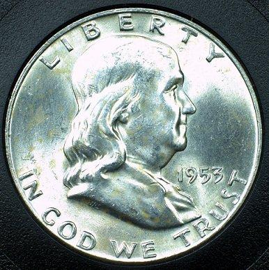 1953 Silver Franklin Half