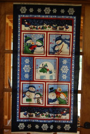 Snowman Christmas Panel from Marcus Fabrics