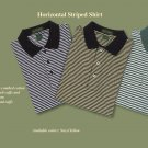 Horizontal striped golf / polo (Medium)