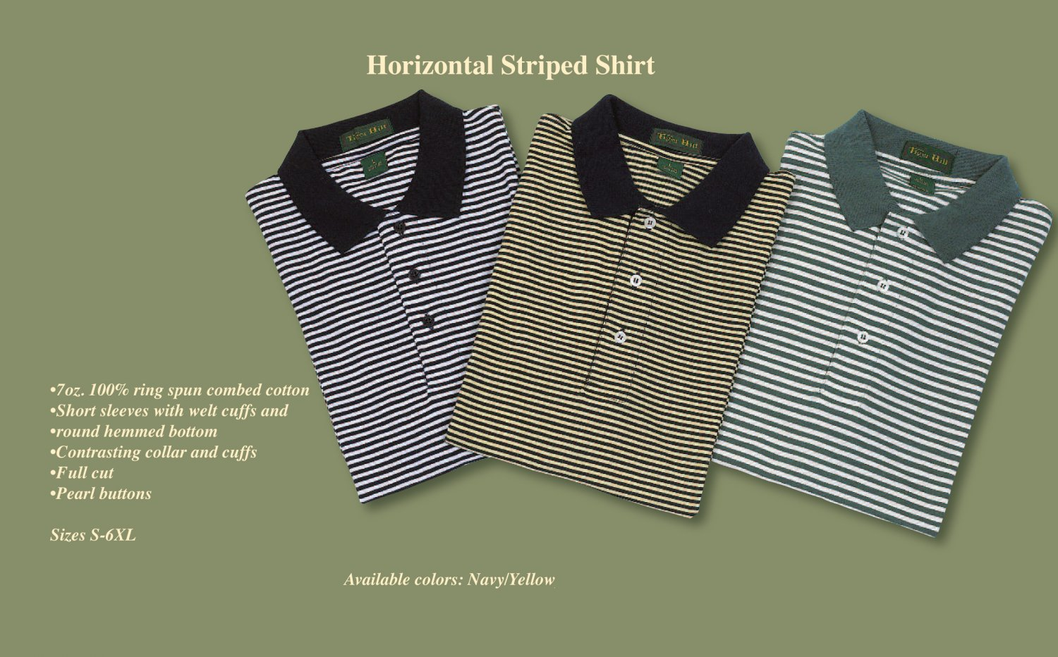 Horizontal striped golf / polo (4X-Large)