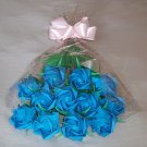 Origami Paper Roses Bouquet  Blue Gift Crafts