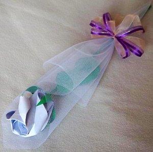 Origami Paper Rose Bud Lavender Craft Gift