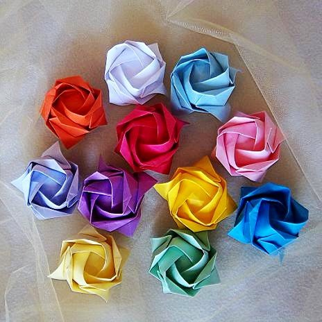 50 Large Origami Roses Wedding Party Decoration Flower Craft Gift