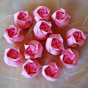 12 Origami Kawasaki RoseBuds Handmade Flower Craft Gift