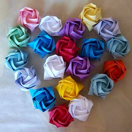100 Origami Roses Wedding Party Decoration Flower Cafte Gift