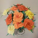 12 Origami Rose Paper Folded Flower Craft Handmade Gift