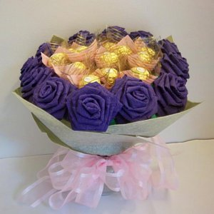 Handmade Crinkle Paper Rose Chocolate Bouquet 12 Origami Rose Valentine's Day Gift Flower Crafts