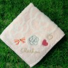 Clathas Pink Rose, Heart& Ribbon Handkerchief