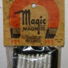 1950 VINTAGE MAGIC MAGNETS - No. 4045 USA Made - NEW Magnetic Metal Fridge Watch
