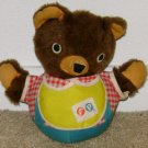 VINTAGE FISHER PRICE ROLY POLY CHIME TEDDY BEAR - 70s #719 FP Mexico Cub Toy 274