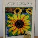 LATCH HOOK KIT - Sunflower Rug WonderArt Caron Vintage Hooking Craft Set Flower