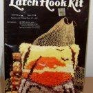 1979 SEW SIMPLE LATCH HOOK KIT Sunrise Rug Vintage Craft Set Nature Sun Sky Bird