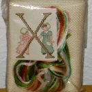 VINTAGE JESSA NEEDLECRAFTS KIT Letter X Women Dress - Holland Embroidery Pattern