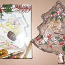 7.5'' SAVOIR VIVRE CHRISTMAS TREE SERVER PLATTER Vintage Glass Plate Crystal NIB