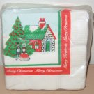 1977 AMERICAN GREETINGS BEVERAGE NAPKINS - CHRISTMAS SCENE Vintage Lot Tree NEW