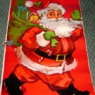 1950 VINTAGE CHRISTMAS DOOR COVERS LOT 2 Santa Claus Poster Paper Forest Animal