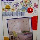PLAID KIDS WALL DECOR - Stencil & Stamp Set - Border Mural Flower Butterfly NEW!
