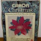 POINSETTIA LATCH HOOK KIT Caron Christmas Vintage Hooking Holiday Rug Flower NEW