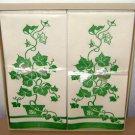 1950s PAPER GUEST TOWELS - Ivy Design Vintage Green Brownie Blockprint Creation