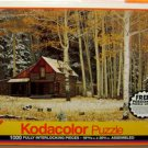 KODACOLOR PUZZLE - NEW! Cabin and Aspens - 1992 Rose Art Woods Forest Vintage