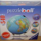 RAVENSBURGER PUZZLE BALL - 3D World Globe Map - 540 Piece Display Stand Included