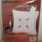 CANDLEWICK PILLOW CRAFT KIT - Grapes Of Wrath - Colony Collection IV Embroidery