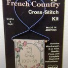 CROSS STITCH KIT - French Country Wire Hanger Flower Garden Wedding Anniversary