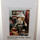 PATRIOTIC BOY & PUP - Doll Pattern Packet - Stuffed Animal Craft Sewing Dog USA