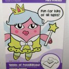 IRON ON ART FLOCKED TRANSFER - Monster Fairy Princess - SEI Crafts Appliques New