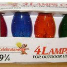 C-9 1/4 REPLACEMENT LIGHT BULB LOT Transparent Multi Color Vintage Christmas Red