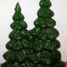 10'' CERAMIC CHRISTMAS TREE Vintage Glenview Mold Green Painted Atlantic Figure