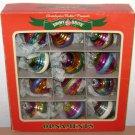 SHINY BRITE ORNAMENTS - Vintage Reproductions 2012 Multi Color Glitter SpiralTop
