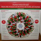 PAPER WREATH KIT - Tapestry by CR Gibson Christmas Holiday Ribbon New Snowflake