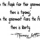 Thomas Jefferson tyranny quote Tee! WHITE Tee Adult SMALL