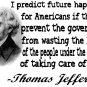 Thomas Jefferson future quote Tee! WHITE Tee Adult LARGE