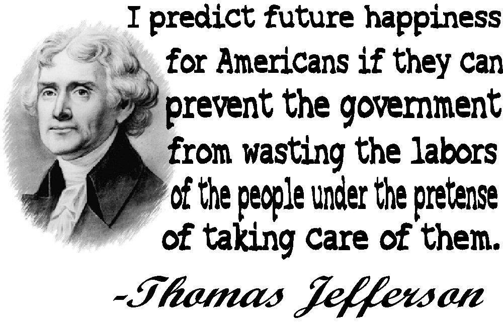 Thomas Jefferson future quote Tee! WHITE Tee Adult MEDIUM
