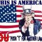 This is AMERICA U PUSH 1Tee! WHITE Tee Adult MEDIUM