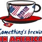 Tea Parties something's brewing Tee! WHITE Tee Adult LARGE