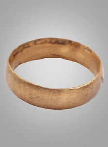 Mens  Viking  Wedding Band Jewelry C.866-1067A.D. Size 10 1/2   (19.9mm)(Brr747)