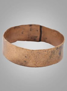 Mans Antique Ancient Wedding band Viking Ring C.866-1067AD. Size 12 3/4   (22.1m
