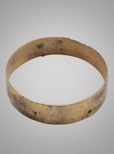 Authentic Ancient Viking Wedding Band. C. 8661067 A.D. Size 10 1/4 (19.9mm)(brr8