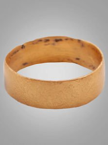 Ancient Viking Womans Wedding Band, Jewelry C.866-1067A.D. Size 5 1/4  (15.5mm)(
