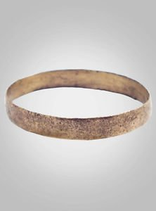 Ancient Viking    Wedding Band Jewelry C.866-1067A.D. Size 9 1/2   (19.7mm)(Brr4