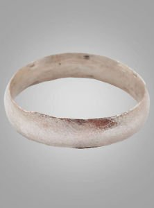 French Country Wedding Band, Viking Age Ring, C.866-1067A.D. Size 8 1/4  (17.1mm