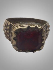 Antique Mans Gypsy Romany Ring Size 9 18.4mm(139cg)
