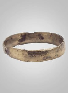Ancient Viking Wedding Band Jewelry C.866-1067A.D. Size 9 1/4  (19.8mm)(Brr473)