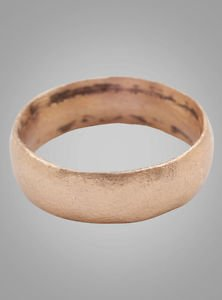 Authentic Ancient Viking Wedding Band Jewelry C.866-1067A.D. Size 6 3/4  (16.6mm