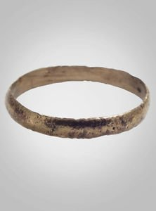 Authentic Ancient Viking Wedding Band Jewelry C.866-1067A.D. Size 10 1/4 (20.1mm